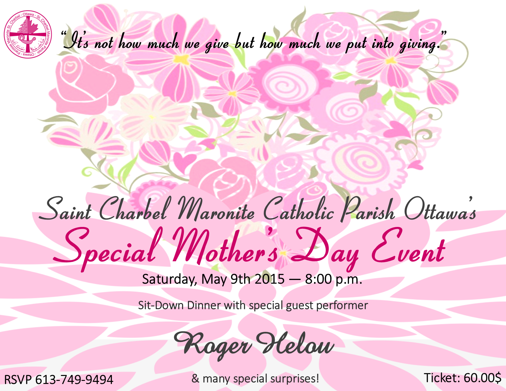 Special Mother's Day Event – Ottawa – Saint Charbel